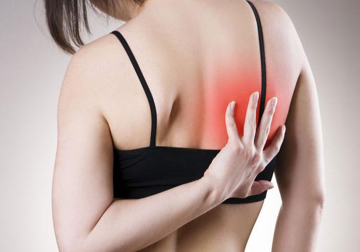 Боль под правой лопаткой сзади со спины: источники развития, симптоматика, лечение